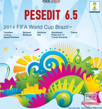 PESEdit 2013 Patch 6.5 (World Cup 2014 Brazil)