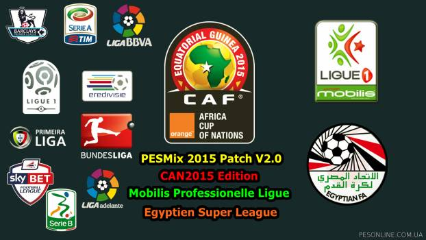 PESMix 2015 Patch 2.0 (+ Кубок Африканских Наций 2015)