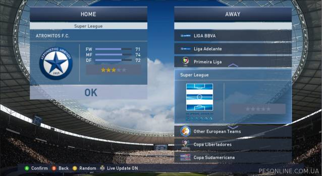 PES-Hellas 2015 Patch обновление 2.01 + FIX