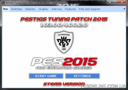 PESTIGS 2015 Tuning Patch 2.0
