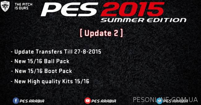 PES 2015 Summer Edition Patch обновление 1.2 (Season 2015/2016)
