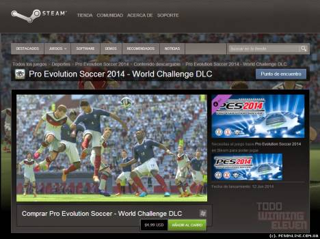 Pro Evolution Soccer 2014 PC - World Challenge DLC доступен в Steam